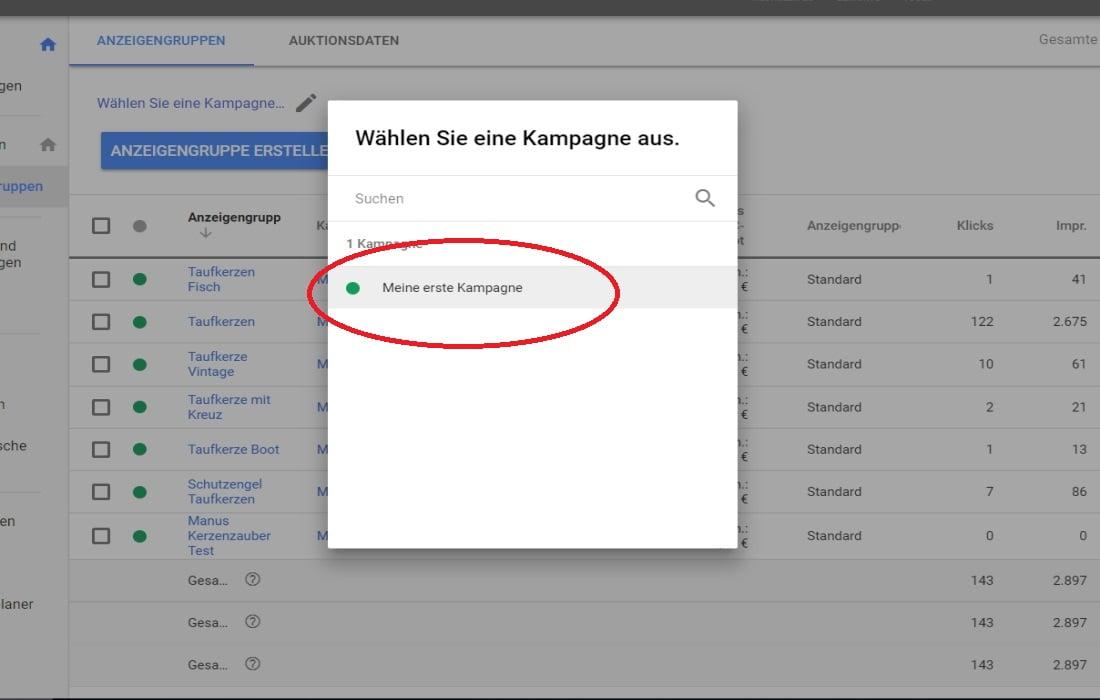 Google Ads Anzeigengruppen